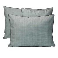 Coussin rectangulaire outdoor antibes - smoke green - 50 x 80 cm