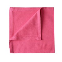 Serviette de table unie et colorée - fuschia - 40 x 40cm