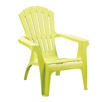 Fauteuil empilable dolomiti - vert anis - 75 x 86 x 86 cm