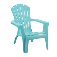 Fauteuil empilable dolomiti - turquoise - 75 x 86 x 86 cm
