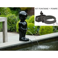 Kit fontaine de bassin boy 45,5 cm noir + pompe