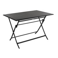 Table de jardin rectangulaire azua 4 places graphite