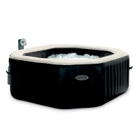 Spa gonflable purespa octogonal bulles + jets 4 places - intex