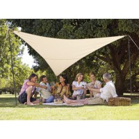 Kit voile d'ombrage triangulaire 3,60 x 3,60 m - sable