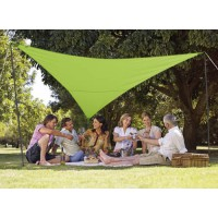 Kit voile d'ombrage triangulaire 3,60 x 3,60 m - vert pomme