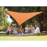 Kit voile d'ombrage triangulaire 5,00 x 5,00 x 5,00 - terracotta