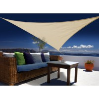 Voile d'ombrage triangulaire 3 x 3 x 3 m - sable