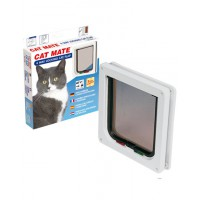 Chatiere cat mate verrouillable 4 positions couleur blanche