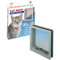 Chatiere large cat mate 4 positions garantie 3 ans couleur blanche
