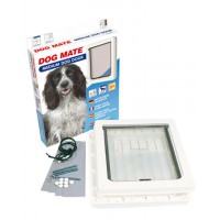 Chatiere dog mate chien de taille moyenne couleur blanche