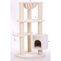 Arbre à chat maine coon xl colosseum beige
