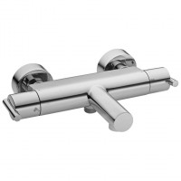 Mitigeur bain douche thermostatique totem chrome