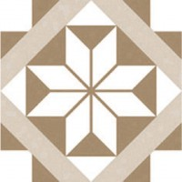 Carrelage diapason grand motif beige 20x20 ép.14 mm aspect mat