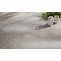 Carrelage beton gris gripp 30.5x60.5 ép.9.5 mm aspect naturel