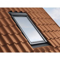 Raccord velux gris sur tuile 120mm pose traditionnelle - edw 0000 ck02