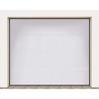 Porte garage sectionnel columbia kit contemporain blanc (grain) h.212.5 x l.250