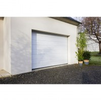 Porte de garage sectionnelle oregon contemporaine blanc 9010 h.200 x l.240