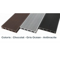 Lames terrasse composite coloris anthracite pack complet 5 m²...