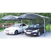 Carport double alu anthracite 28,62 m2 - habrita
