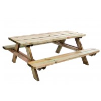 Table picnic matisse 180x165x70cm, ép 45mm - forest style