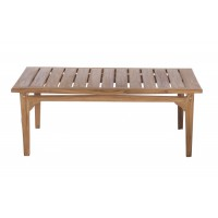 Table basse teck kayla 120 x 60 x 45,50 cm - lynco