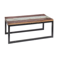 Table basse rectangulaire teck recyclé calypso 90 x 50 x 38 cm -...