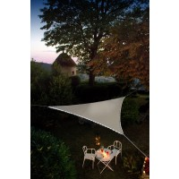 Voile d'ombrage lumineuse triangle 3.60 m taupe - jardiline