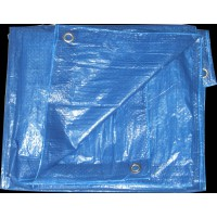 Bâche de protection 4x5m eco bleu royal - sodepm