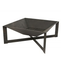 Brasero metal exterieur carré 70 x 70 cm - garden furniture