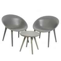 Salon de jardin fauteuils + table basse marbella anthracite -...