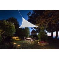 Voile d'ombrage lumineuse 3.60 m blanc - jardiline