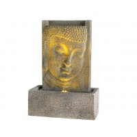 Fontaine murale bouddha led à poser 22x41.5x60cm - lumineo