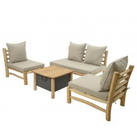 Salon de jardin teck havana - garden furniture