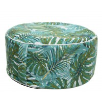 Pouf pvc gonflable feuille diam. 53 cm - garden furniture