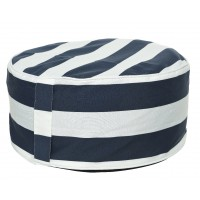 Pouf pvc gonflable rayé diam. 53 cm - garden furniture