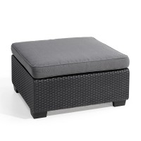 Pouf de jardin salta anthracite - allibert