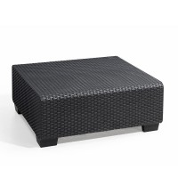 Table basse de jardin salta anthracite - allibert