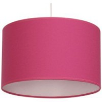 Suspension, e27 pop natt coton rose shocking n°3 1 x 60 w inspire coton