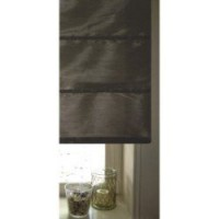 Store bateau aspect soie polyester, taupe, l.60 x h.180 cm polyester