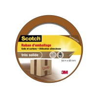Adhésif scotch emballage une face multiusage l.66 m x l.48 mm, marron