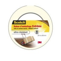 Adhésif scotch emballage une face multiusage l.25 m x l.48 mm, transparent
