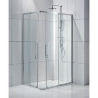 Porte de douche coulissante, angle rectangle, 90 x 70 cm, transparent, purity3 sensea