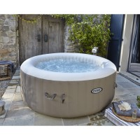 Spa gonflable intex pure spa bulles rond, 4 places assises