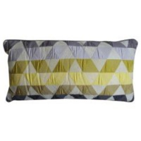 Coussin triangles, bambou l.30 x h.60 cm 100% polyester