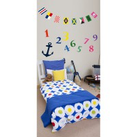 Sticker navy 24 cm x 68 cm plage