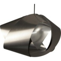 Suspension, e27 design node pvc argent 1 x 60 w metropolight pvc
