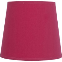 Abat-jour conique, 17 cm, toiline, rose shocking n°3 inspire