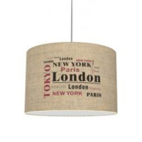 Suspension, e27 city metropolis lin beige 1 x 40 w seynave lin