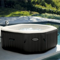 Spa gonflable intex pure spa jets+bulles octogonale, 4 places assises