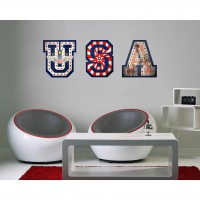 Sticker usa 39 cm x 120 cm plage
